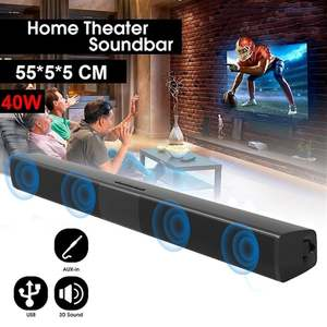 Sound-Bar Speaker Remote-Control Home Theater LESHP Wireless Channel with Stereo