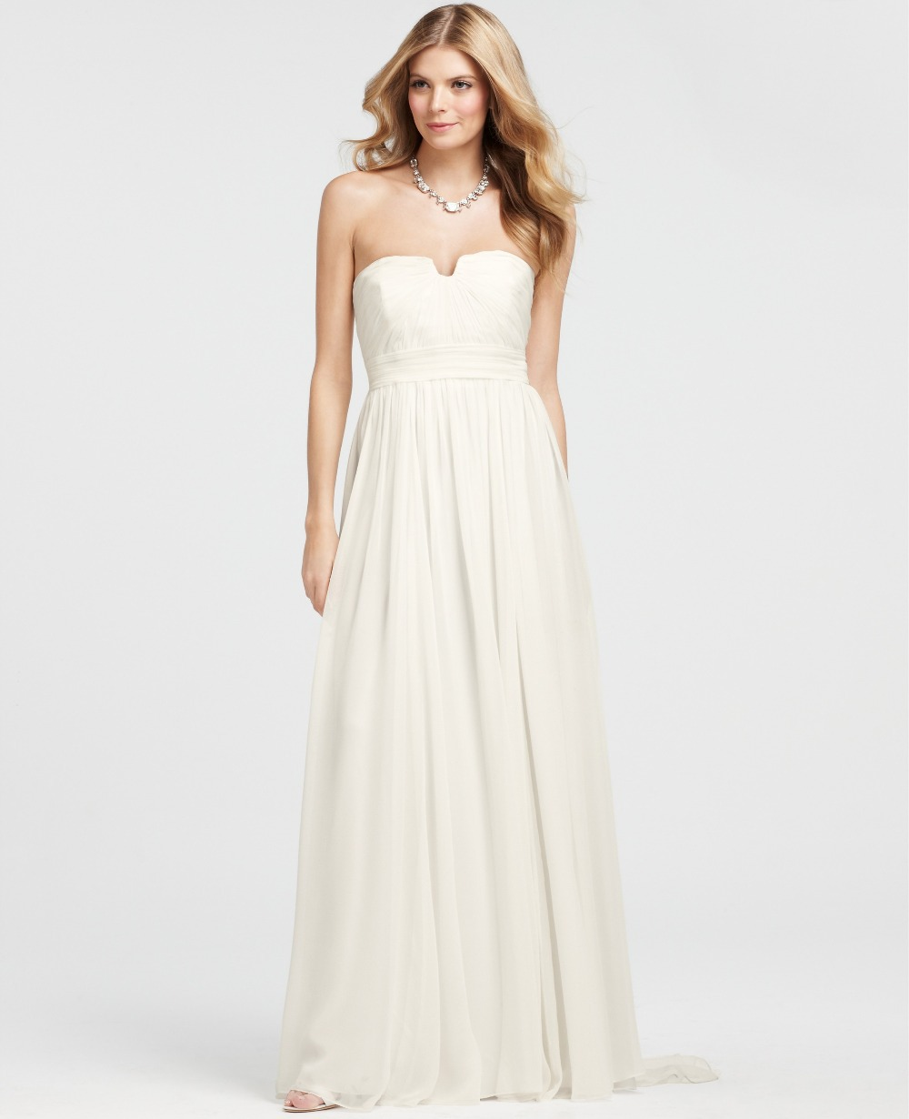 Formal party gown vestido de festa floor-length 2018 robe soiree free Shipping pleat bridal long elegant bridesmaid dresses