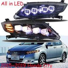 Автомобильный бупмер головной свет для Honda City фары Cruiser автомобильные аксессуары все светодиодный противотуманные фары