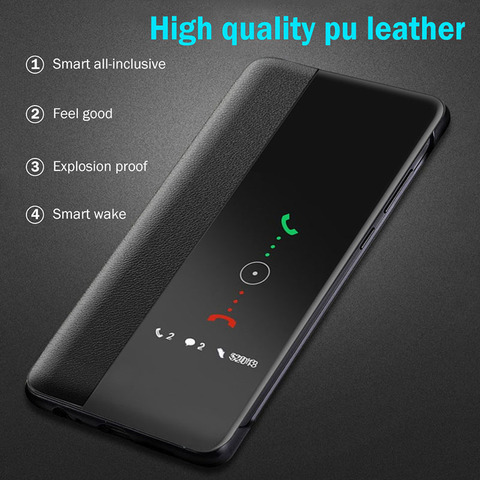 luxury Filp Leather case For samsung a10 2019 smart window view cover on For samsung galaxy a50 a70 a20 a30 a40 a60 cases coque Islamabad