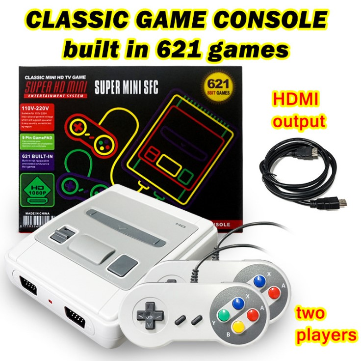 621 Games Childhood Retro Game Mini Classic 4K TV AV/HDMI 8Bit Video Game Console Handheld Gaming Player with 2 Gamepad Dropship