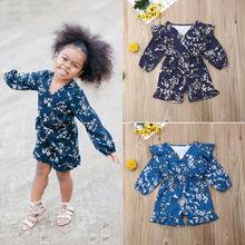 Flower Infant Toddler Baby Girl Romper Vintage Long Sleeve Neborn Jumpsuit Spring Autumn Clothing