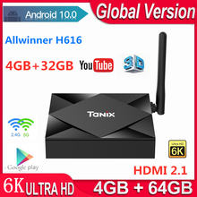 Allwinner h616 android tvbox 10 4 Гб оперативной памяти 32 ГБ