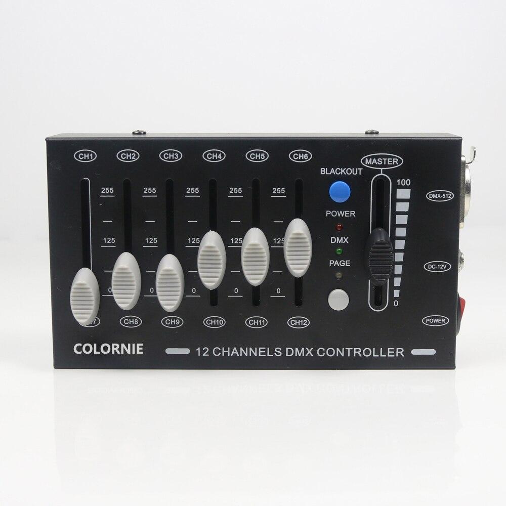 Mini controlador de dj dmx, 12 canais,