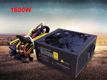 купить Mining Machine 1600w PC Serve Power Supply ATX GPU Switching PSU Bitcoin Miner R9 380/390 RX 470/480 RX 570 1060 6 Graphics Card дешево