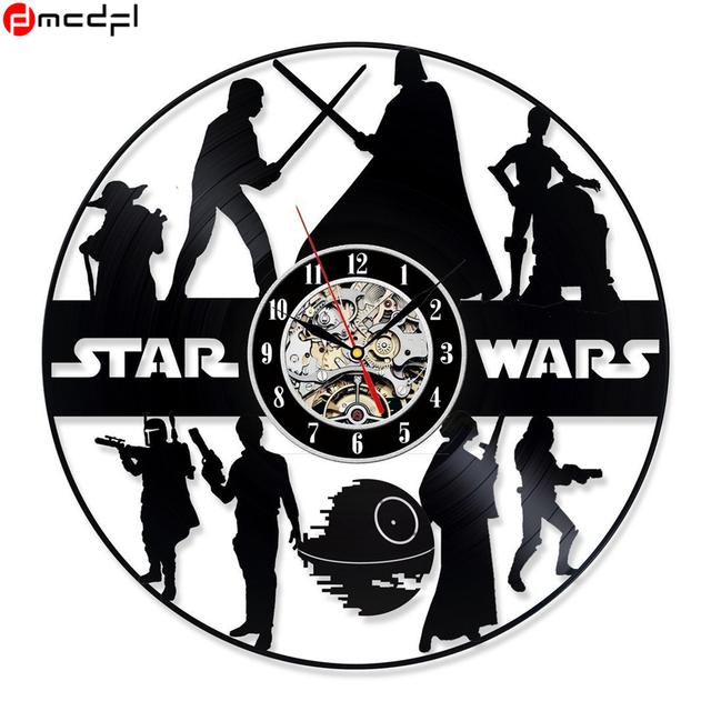 Star Wars Clock CD Vinyl Record Decor 3D Hanging Wall Clock