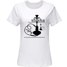 Funny Shisha Water Pipe Smoking Hookah Merchandise T-Shirt Slim Fit Men's Tshirt Black Leisure T-Shirts For Men Hiphop(China)