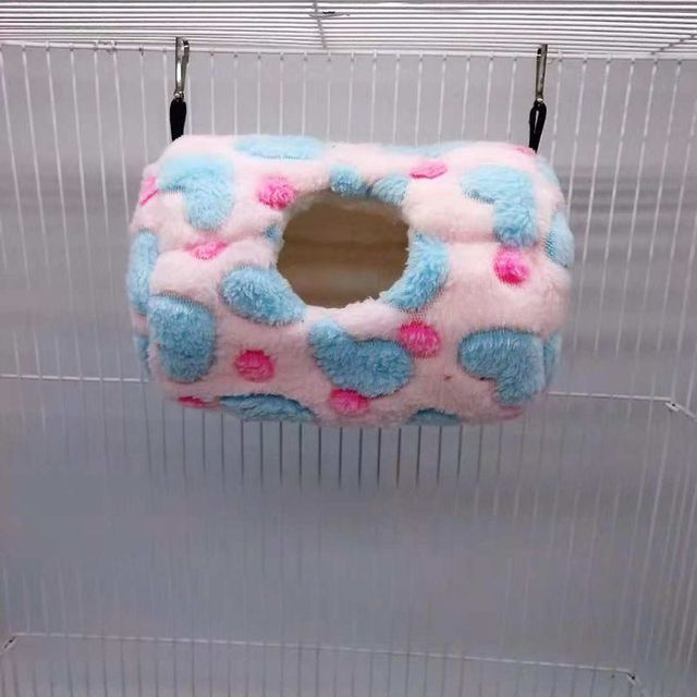 Parrot Nest Bed Winter Plush Warm Hanging Cave Cage Hammock House for Hamster 4