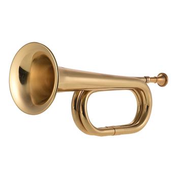 Muslady B Flat Bugle Call trąbka kawalerii róg mosiądz instrument z ustnikiem do szkoły zespół kawalerii orkiestra wojskowa nowy tanie i dobre opinie Muslady Trumpet Brass