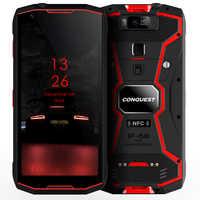 """Conquest S12 Pro IP68 wodoodporny telefon komórkowy 4G 6G + 128GB 5.99 """"ekran 8000mAh Android 9.0 helio P70 octa core wytrzymały smartfon"""