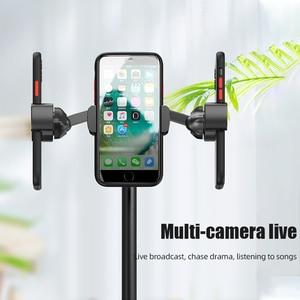 Image 4 - ! ACCEZZ שולחן העבודה מחזיק טלפון Stand עבור iPhone 11 פרו מקס Huawei P40 סמסונג 360 סיבוב מתכוונן חי שידור עצלן סוגר
