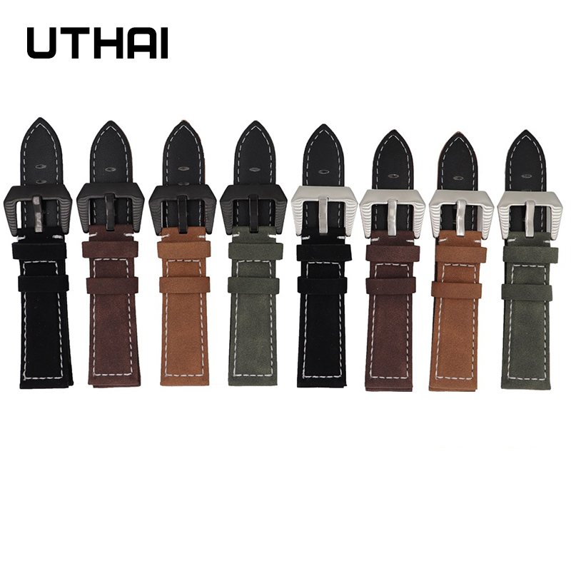 UTHAI Genuine Leather Strap 20mm 22mm For Samsung Galaxy Watch 42 46mm Gear S2/3 Sport Watch Accessories 18 20 22 24mm WatchBand
