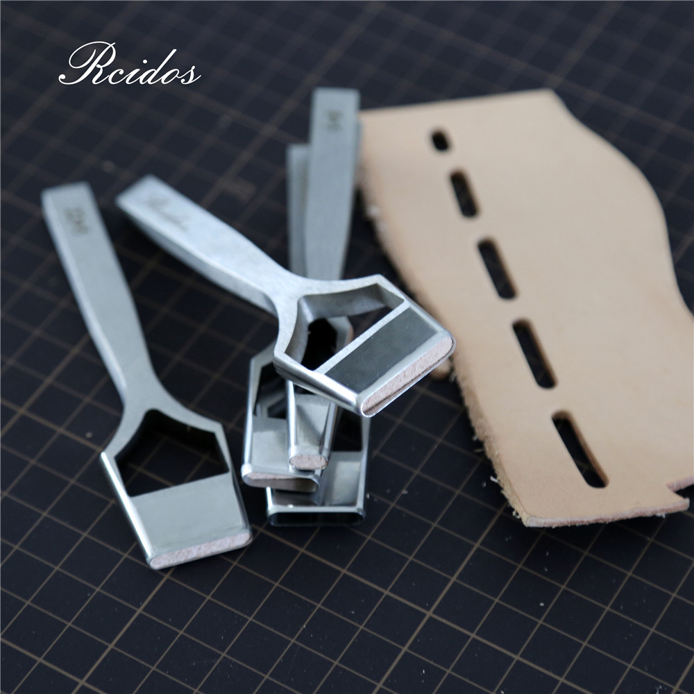 5x8/16/20/22/25mm Manual DIY Leather Belt Flat Hole Puncher,RCIDOS Leather Bag Hole Cutter,Stainless Steel,1pcs Price