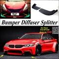 Автомобильный сплиттер  диффузор  бампер  Canard  для BMW 4  серия M4  F32  F33  F36  тюнинг  комплект кузова/передний автомобильный ребро  подбородок  уме...