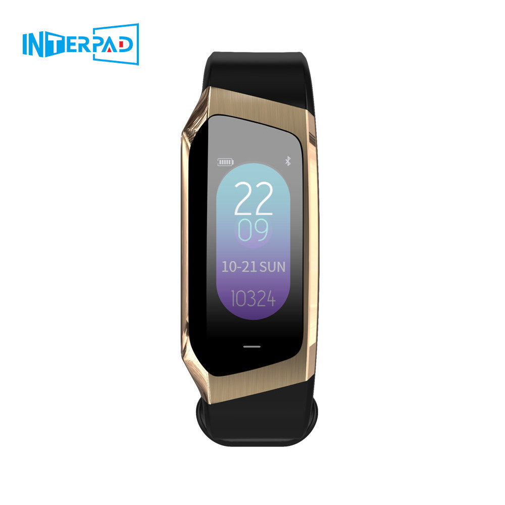 2019 Interpad bracelet intelligent femmes et hommes fréquence cardiaque Fitness Test montre intelligente pression artérielle pour Huawei iOS