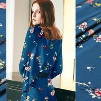 135cm wide silk stretch satin fabric meter 19mm digital inkjet silk fabric satin shirt dress fabric wholesale silk cloth