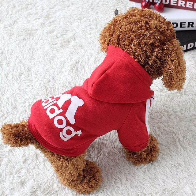 Dog clothes adidog 2020 new winter Pet clothes small and medium-sized dog Hoodies puppy clothing Sweatshirt for dogs  2