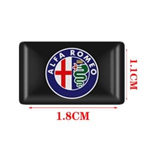 10pcs Steering Wheel 3D Car Sticker Emblem Decal Decorating For Toyota Chevrolet BMW Audi Suzuki kia Ford Fiat skoda accessories