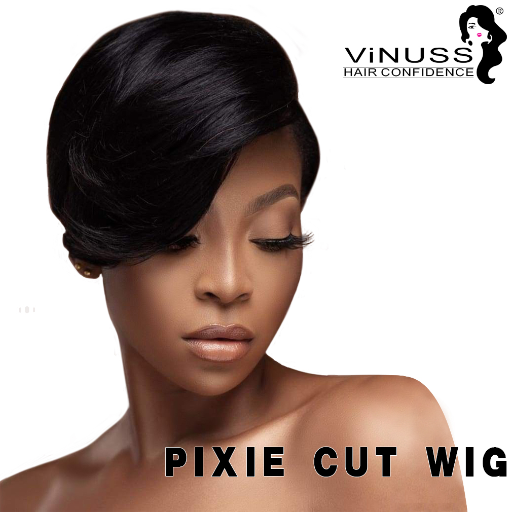 Lace Front Human Hair Wigs Brazilian Blond Black Curly Short Pixie Cut Human Hair Bob Lace Wig Remy Wigs For Black Women Wig