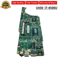 For Lenovo Ideapad U430 U430P Laptop Motherboard DA0LZ9MB8F0 LZ9 SR16Z I7-4500U DDR3 2GB mainboard Fully Tested