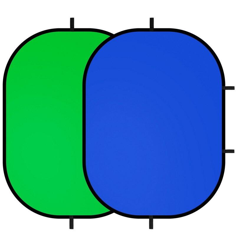 "Panel Blue Green foldable 1.5x2m Studio Portable Pop up Background 59/"" x 79/"""
