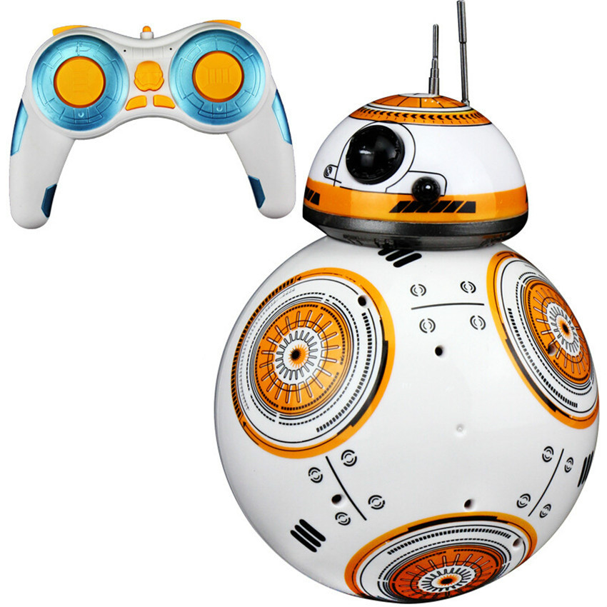 1pc Upgrade <font><b>Rc</b></font> <font><b>Bb8</b></font> <font><b>Robot</b></font> With Sound And Dancing Action Figure Gift Toys 2.4g Remote Control Bb-8 <font><b>Robot</b></font> Intelligent Bb 8 Ball Toy image