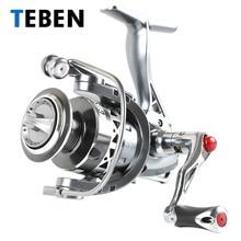 цена на 2018 Teben True 8 Bearings 5.2:1 Fresh Water Carp Fishing Spinning Reel 2-6000 Series Original  Rubber Handle Reels Fishing