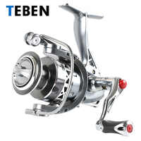2018 Teben True 8 Bearings 5.2:1 Fresh Water Carp Fishing Spinning Reel 2-6000 Series Original Rubber Handle Reels Fishing