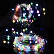 LED indoor Light String Fairy 2M 3M 5M 10M Garland Battery Power Copper Wire Lights For Christmas Festoon Party Wedding 8 Colors