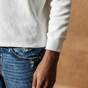 Image 4 - SIMWOOD 2020 אביב חדש ארוך שרוול חולצה גברים משובץ רקום לוגו משובץ חולצת טי בסוודרים למעלה 100% כותנה t חולצה 190272