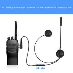 Interkom w kasku motocyklowym lekki E200 domofon bluetooth bezprzewodowa komunikacja walkie-talkie zestawy słuchawkowe zestaw głośnomówiący