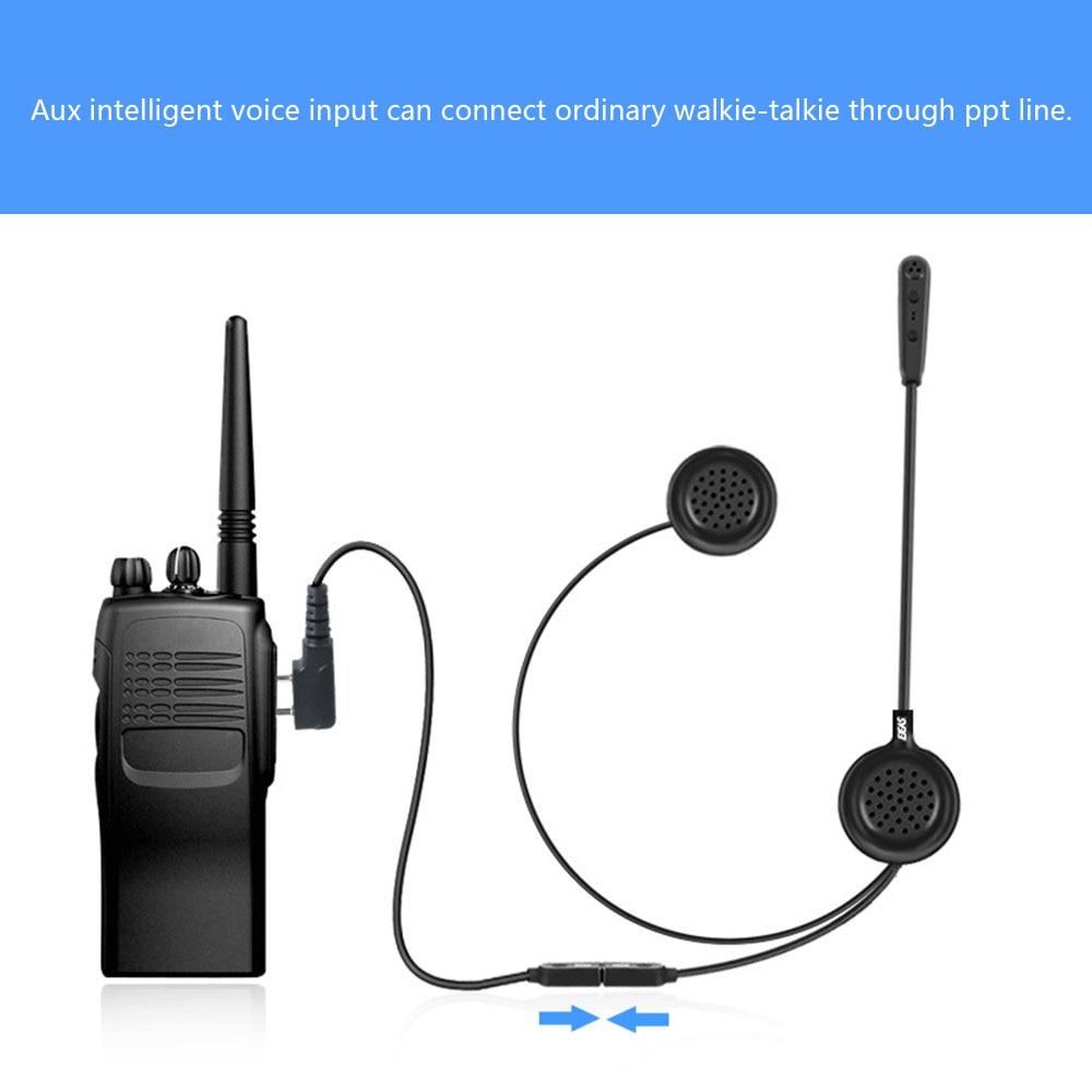Motorcycle Helmet Intercom Lightweight E200 Bluetooth Interphone Wireless Communication Walkie-talkie Headsets Handsfree Kit
