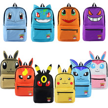 Anime Pokemon Printing Kasual Tas Sekolah Ransel Eevee Cosplay Tas Travel Kanvas Ransel Fashion(China)