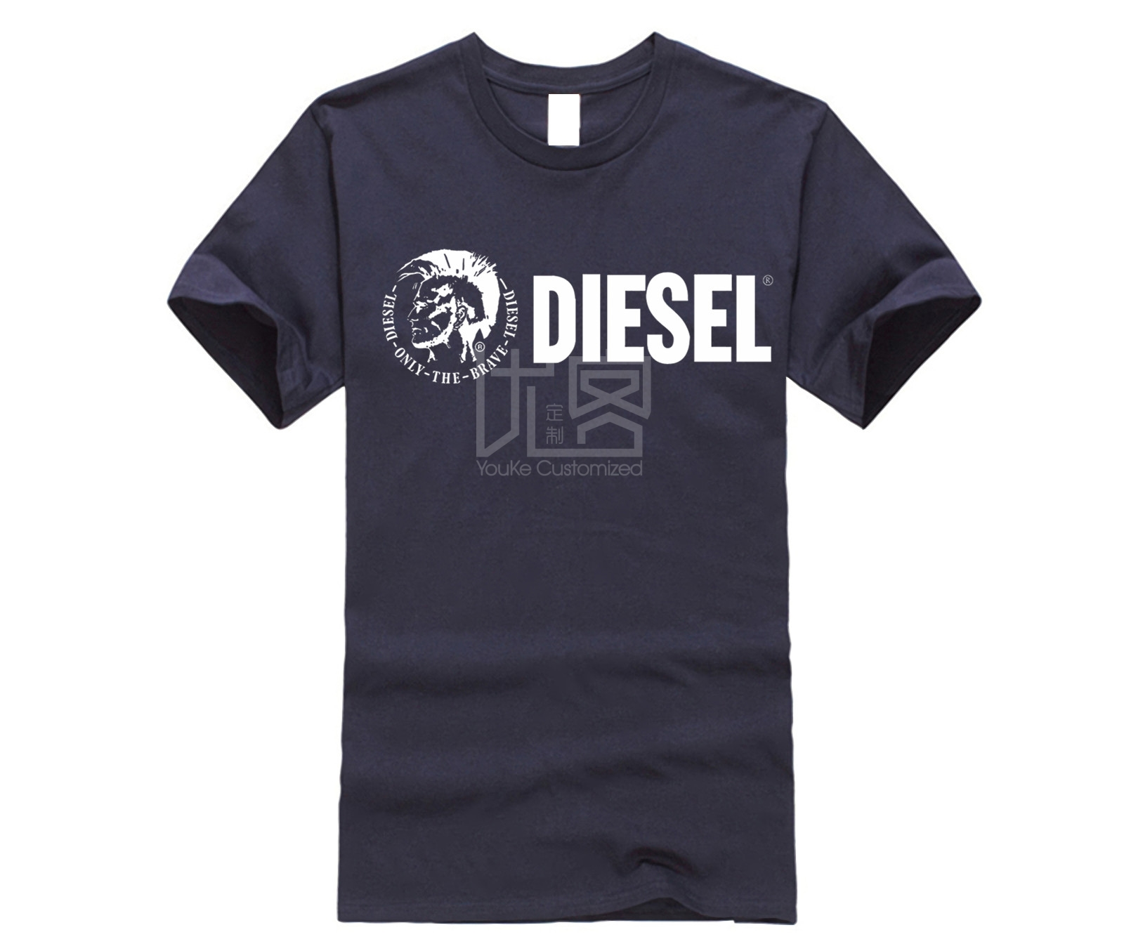 DIESEL Fashion Men Free Shipping Men's T-shirt Simple Short Sleeve Street Men New