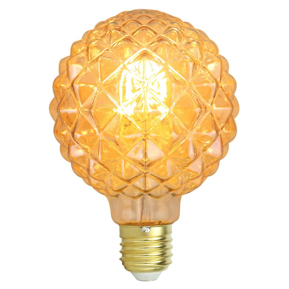 220V 4W E27 G95 Retro LED Light Bulb Pineapple Shape Warm White Light Decorative LED Bulb Household Replacement Bulb