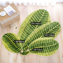 Leaves Shape Living Room Coffee Table Foot Pad Bathroom Door Bedside Carpet Absorbent Non-slip Mat fashion round carpet bedroom ins bedroom living room coffee table mat bedside carpet anti slip mat strong absorbent carpet