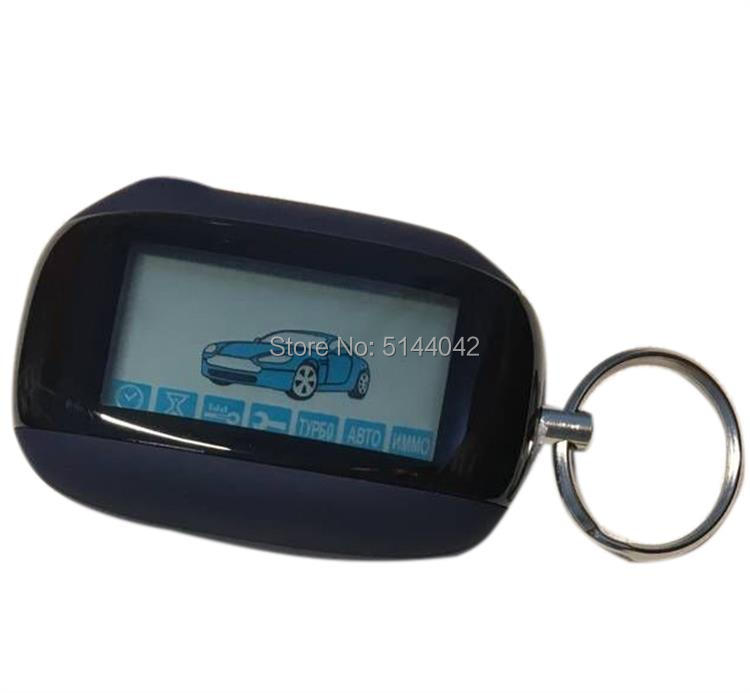 Fob-Chain-Keychain Car-Alarm-System Remote-Control-Key Starline B94 Lcd Two-Way for Russian-Version