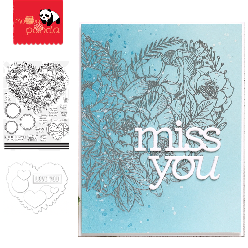BOTANICAL HEART Metal Cutting Dies And Stamps For Card Making Scrapbooking Dies Embossing Stencil Craft Dies