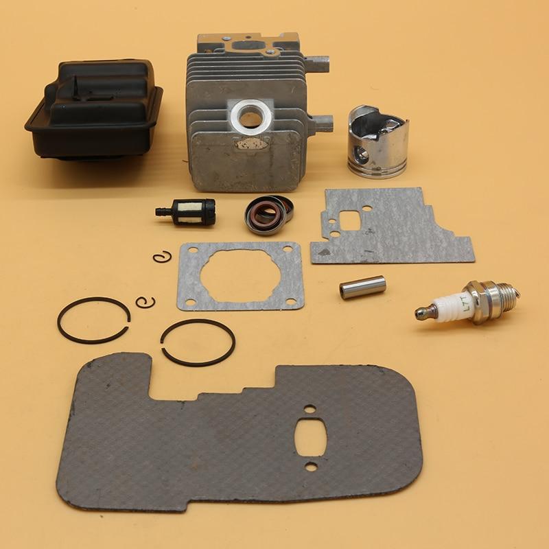 Tools : 34MM Cylinder Piston Exhaust Muffler Gasket Kit for Stihl FS75 FS80 FS85 Trimmer 4137-140-0603 Oil Seal Garden ChainsawParts