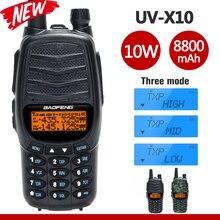 새로운 Baofeng UV X10 라디오 10W Powful 워키 토키 2 PTT 듀얼 밴드 VHF UHF 128 채널 CB 양방향 라디오 UV 5R UV 82