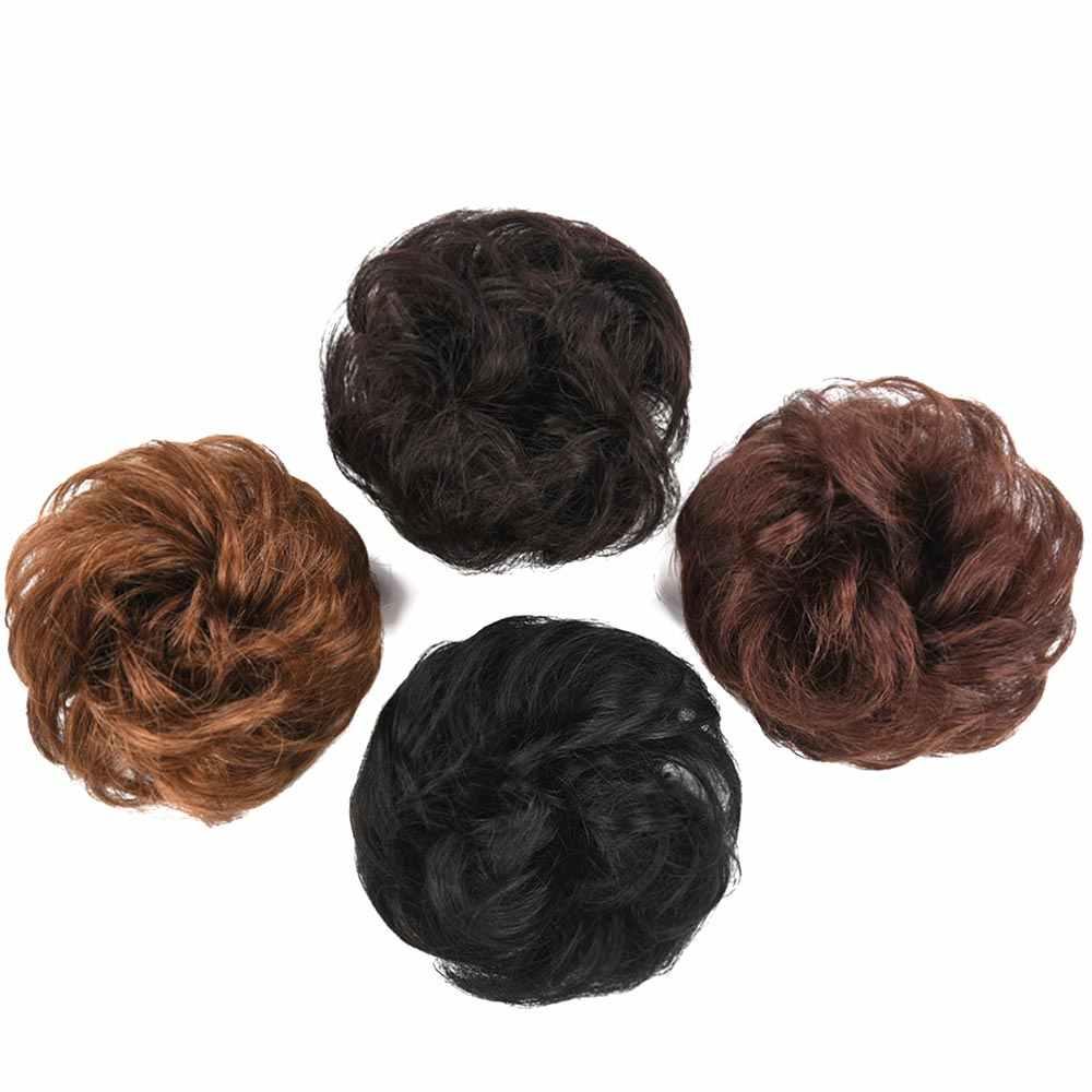 HS Brasilianische Brasilianische Remy Menschliches Haar Bun Chignon Clips In Chignon Haarteil Chignon Haar Verlängerung für Frauen Donut Chignon Brötchen