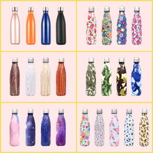 2019 student cup 304 stainless steel mug Creative coke bottle outdoor