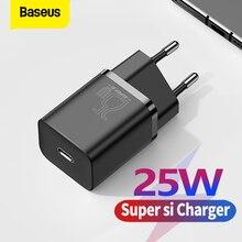 Baseus 25W USB C Ladung PD Schnelle Lade Tragbare Telefon Ladegerät Für Samsung S20 S21 Super Si USB C ladegerät Typ C Schnelle Ladegerät
