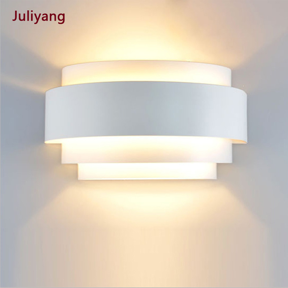 Modern minimalist snail bedroom wall light creative shaped led living room corridor stair wall sconce AC85-265