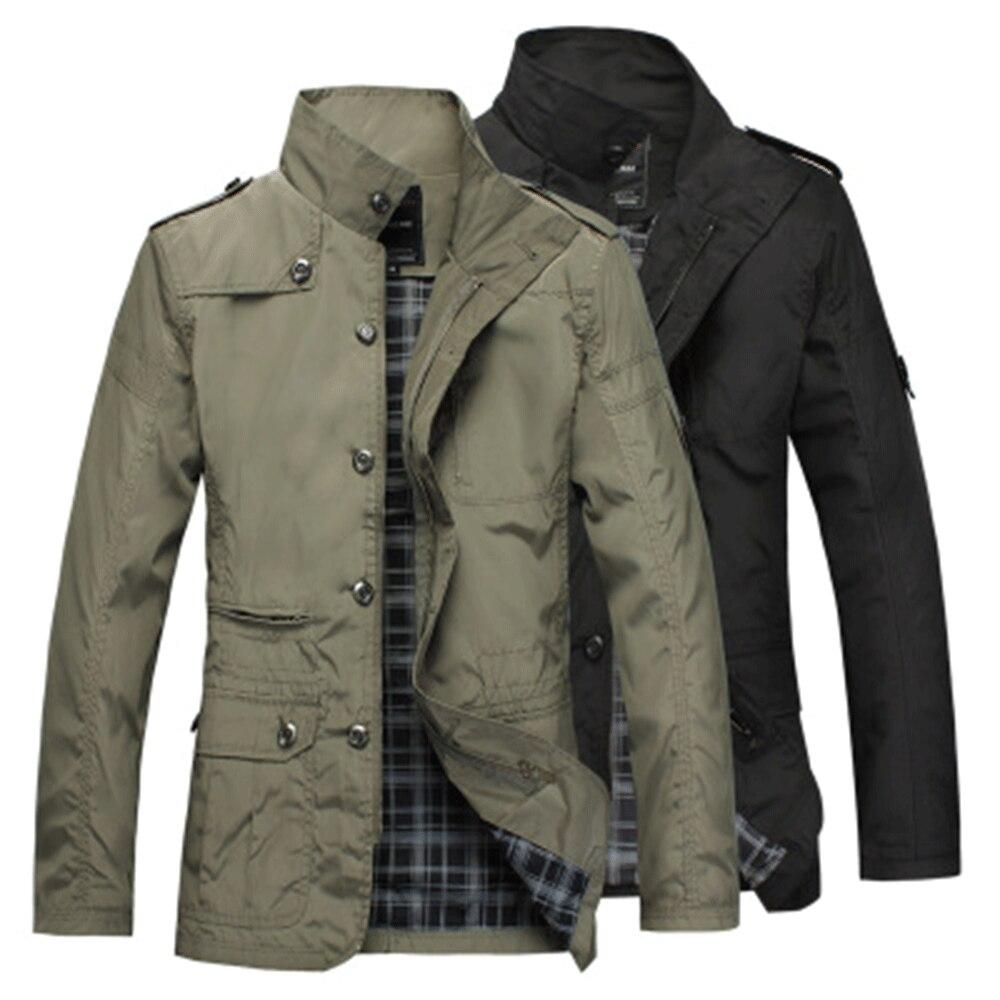 Plus Size Mens   Trench   Coats Jackets Autumn Thin Windbreaker   Trench   Coats Men Casual Jackets Overcoat Jackets Male Outwear