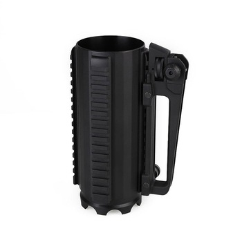 Tactical Rail Battle Beer Mug Cup Aluminum Camping Multi Function Carry Cup Handle Detachable Coffee Drinking Tool