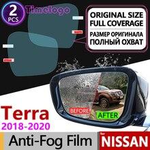 For Nissan Terra 2018 2019 2020 Full Cover Anti Fog Film Rearview Mirror Anti-Fog Rain Films Clear Car Accessories Stickers