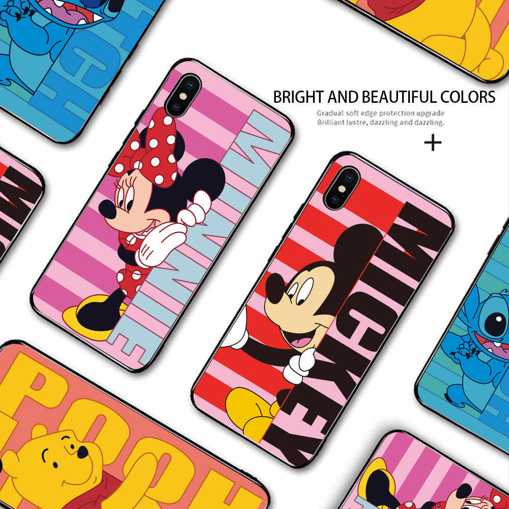 Untuk Huawei Y5 Y6 2018 Honor 7S 8S 7A 8A Lucu Kartun Anime Mouse Bear Shockproof Casing lembut Silikon TPU Case Cover