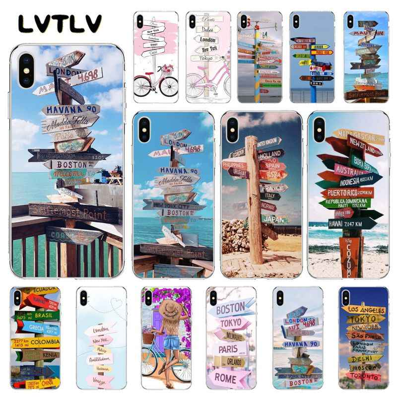 LVTLV السفر لافتة طريق دراجة الهاتف حقيبة لهاتف أي فون 11 برو XS ماكس 8 7 6 6S زائد X 5 5s SE XR