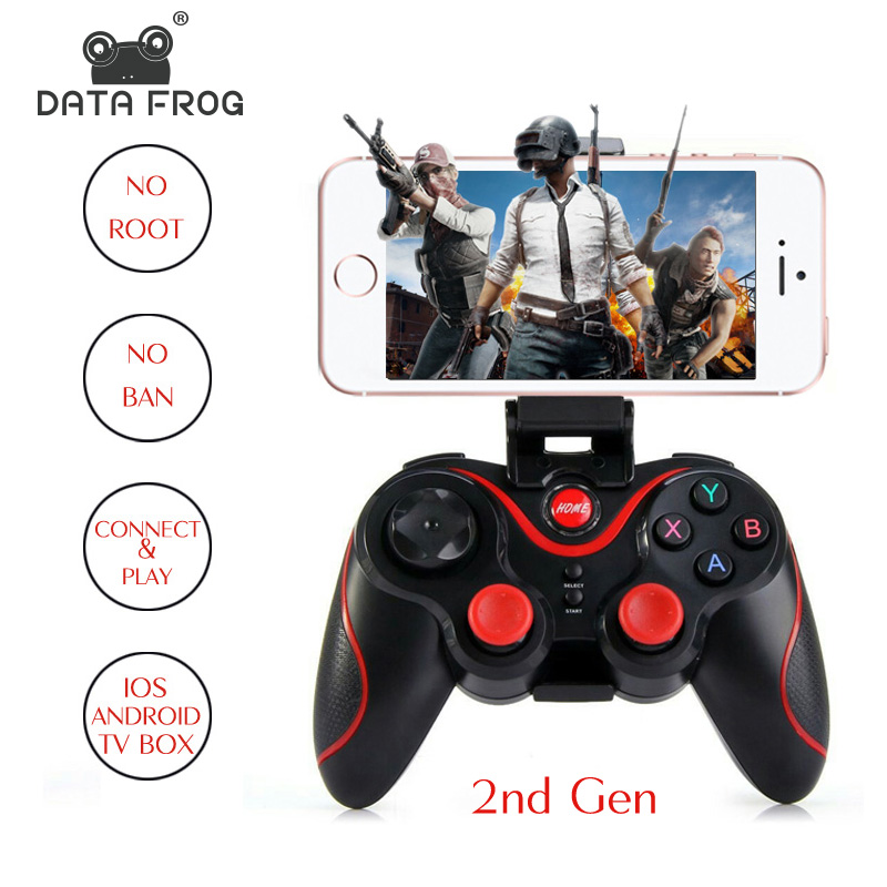 DATA FROG Wireless Joystick Bluetooth Gamepad Game Controller Support Official App For iphone /Android Smart Phone/TV Box/PC/PS3 image